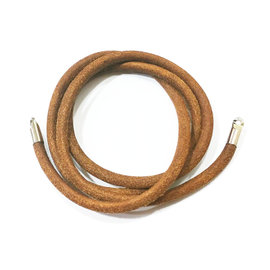 Hermes Thick Brown Leather Fold Necklace or Bracelet