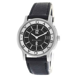 Bulgari Solotempo ST35S Stainless Steel Quartz Unisex Watch 35mm