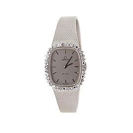 Omega 8442 Cal 625 DeVille Diamond 18K White Gold Womens Watch