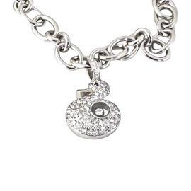 Chopard 18K White Gold Happy Diamonds Duck Charm Bracelet