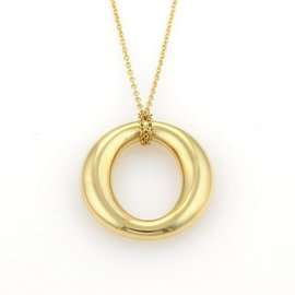 Tiffany & Co. Elsa Peretti Sevillana 18k Gold Pendant & Chain Necklace