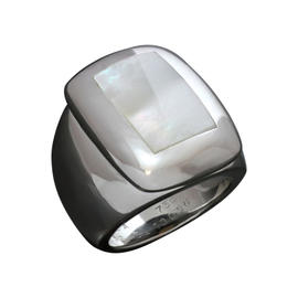 Van Cleef & Arpels Bablyon Mother-of-pearl 18K White Gold Ring