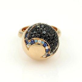 Pasquale Bruni Sogni D'Oro 18K Rose Gold Diamond & Gem Ball Ring