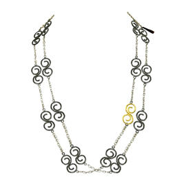 Gurhan Sterling Silver & 24K Gold Long Necklace
