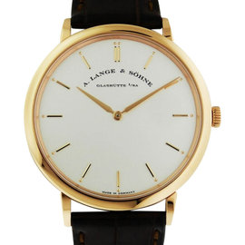 A. Lange & Sohne Saxonia Thin Manual Wind 40mm 18K Rose Gold 211.032 Watch