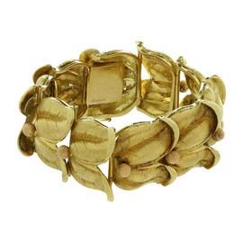 Buccellati 18K Yellow & Rose Gold Floral Bracelet
