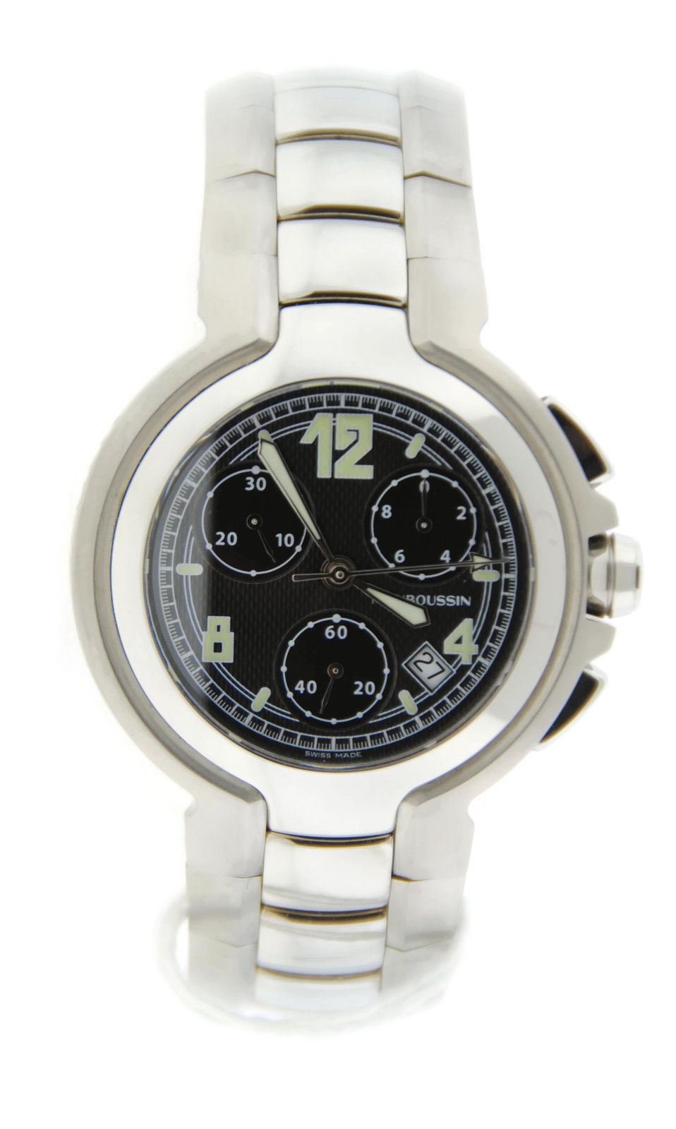 "Image of ""Mauboussin Marbore 463 Stainless Steel Quartz 43mm Mens Watch"""