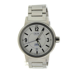 Oris 7534 BC3 Big Crown Day Date Automatic Stainless Steel Mens Watch