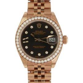 Rolex Datejust 279135RBR Rose Gold Chocolate Diamond Jubilee 28mm Watch