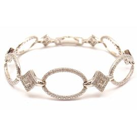 Charriol 18K White Gold Diamond Circle Bracelet