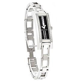 Gucci YA110509 G-Link Diamond Stainless Steel Womens Watch
