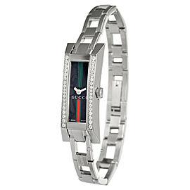 Gucci YA110513 G-Link Diamond Stainless Steel Womens Watch