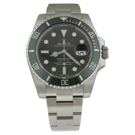 Rolex Submariner 116610LV Stainless Steel Green Ceramic Bezel 40mm Mens Watch