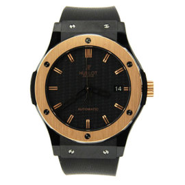Hublot Ceramic King 511.CO.1780.RX Gold Black Dial Automatic Mens Watch