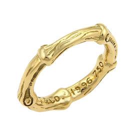 Tiffany & Co. 18K Yellow Gold Nature Bamboo Band Ring