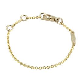 Pomellato 18K Yellow & White Rolo Chain Link Bracelet