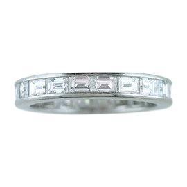Tiffany & Co. Platinum Diamond Eternity Wedding Band Ring