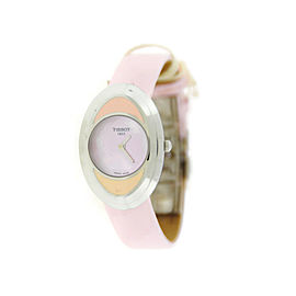 Tissot T03177590 T-Trend Flower Pink Dial Stainless Steel Watch