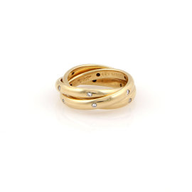 Cartier Trinity Diamond Rolling Ring in 18k Yellow Gold Size 4.75