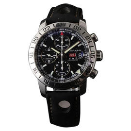 Chopard Mille Miglia 8992 GMT Automatic Black Leather Steel Mens Watch 42mm