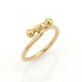 Tiffany & Co. 18K Yellow Gold Double Hoop Ring Size 6