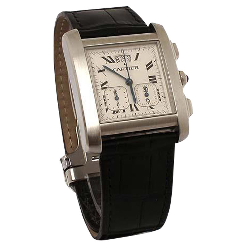"""Image of """"Cartier Tank Francaise 2531 Chronograph Stanless Steel Date Wrist"""""""