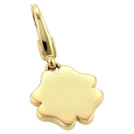 Bulgari 18K Yellow Gold Leaf Clover Charm