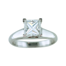Tiffany & Co. Princess Diamond Solitaire Platinum Engagement Ring