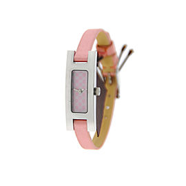 Gucci YA039542 3900L G Link Pink Dial Stainless Steel Watch