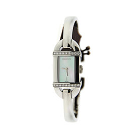 Gucci YA068507 6800L Diamond Mother-of-Pearl Dial Stainless Steel Watch