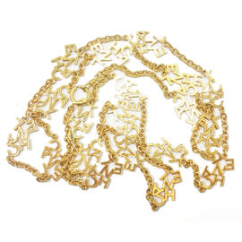Chanel Gold Plated Long Necklace