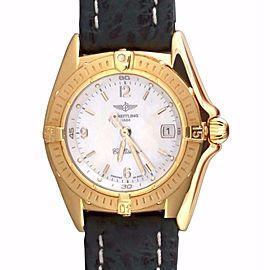 Breitling Callistino K52045.1 18K Gold White Mother Of Pearl Dial Quartz Womens Watch