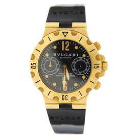 Bulgari Diagono Scuba SC38G Chronograph Automatic 18K Yellow Gold Watch