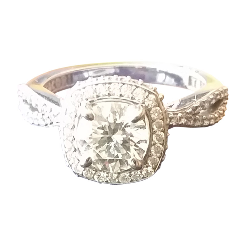 "Image of ""18K White Gold and Diamond Ring"""