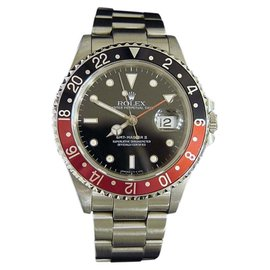 Rolex GMT-Master II 16710 Stainless Steel Oyster Coke Red & Black Mens Watch