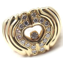 Chopard 18K Yellow Gold Happy Diamond Ring