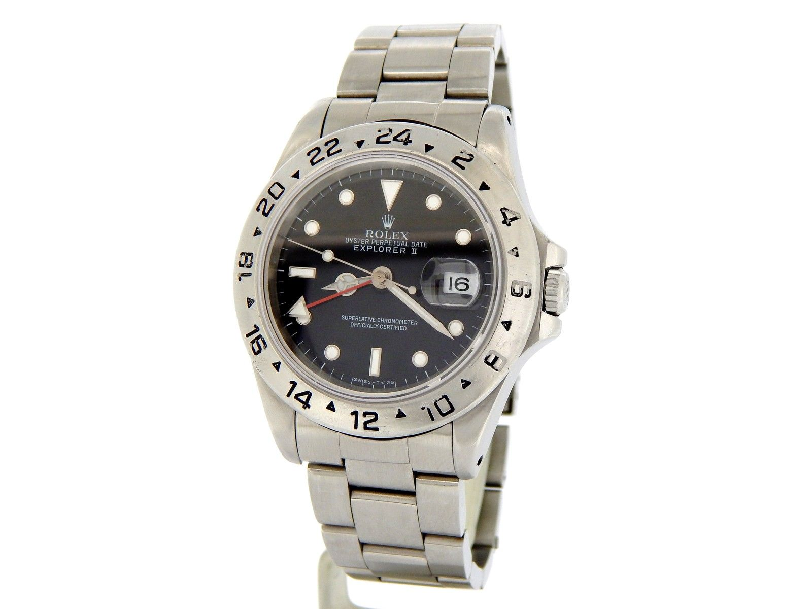 "Image of ""Rolex 16570 Explorer II Date Stainless Steel Oyster Black Dial 40mm"""