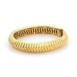 Tiffany & Co. 18K Yellow Gold Ribbed Bangle Bracelet