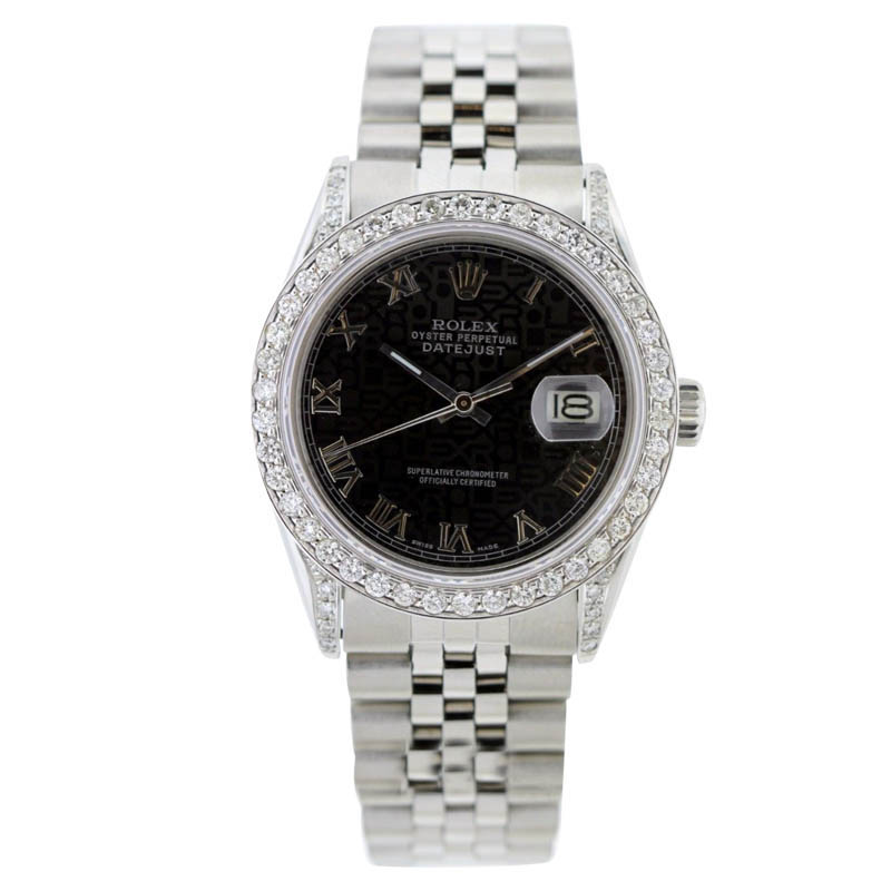 """Image of """"Rolex Datejust 18K Yellow Gold & Stainless Steel Diamond Case With"""""""