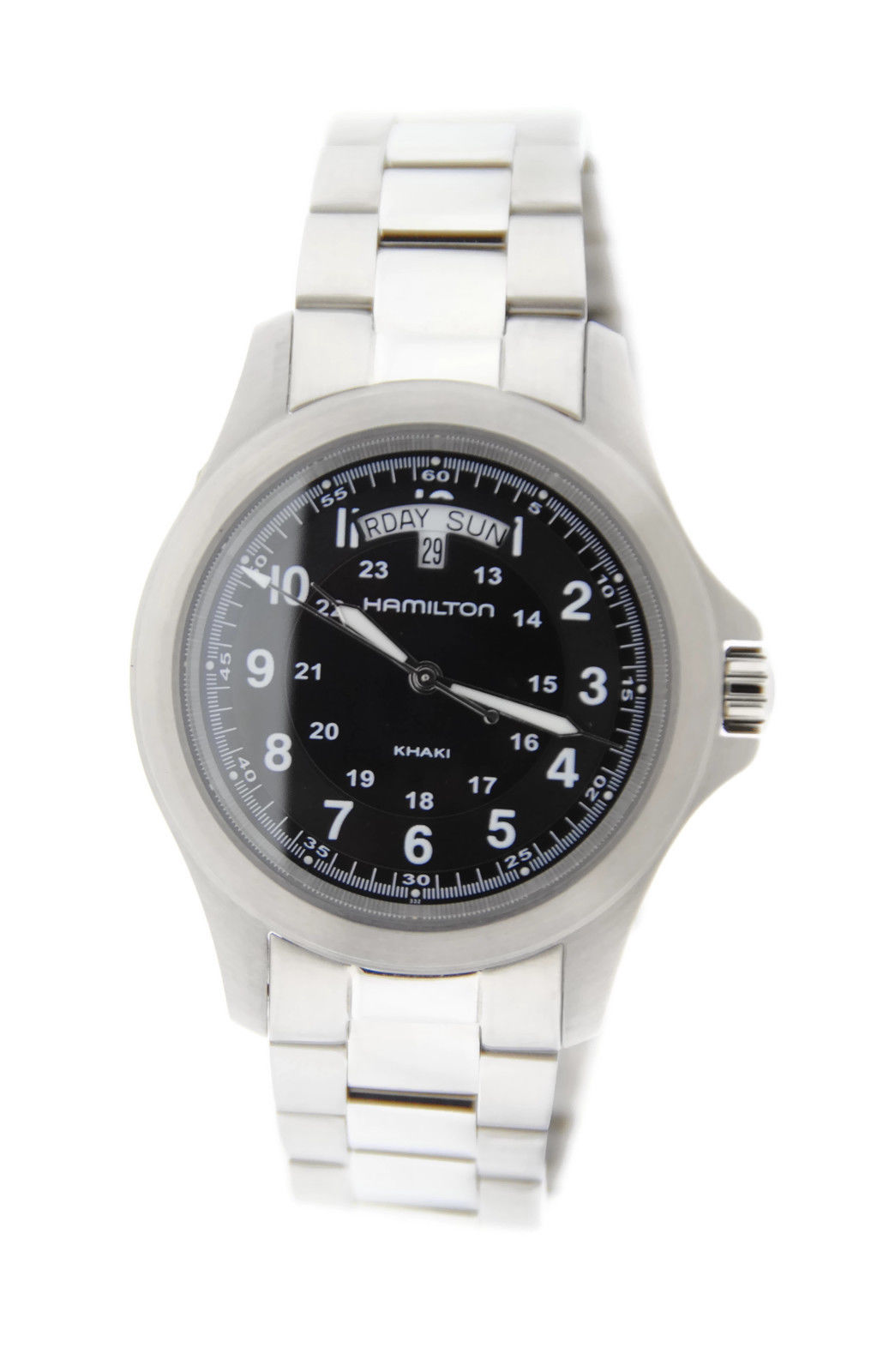 "Image of ""Hamilton H644150 Khaki Day Date Stainless Steel Mens Watch"""