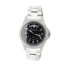 Hamilton H644150 Khaki Day Date Stainless Steel Mens Watch
