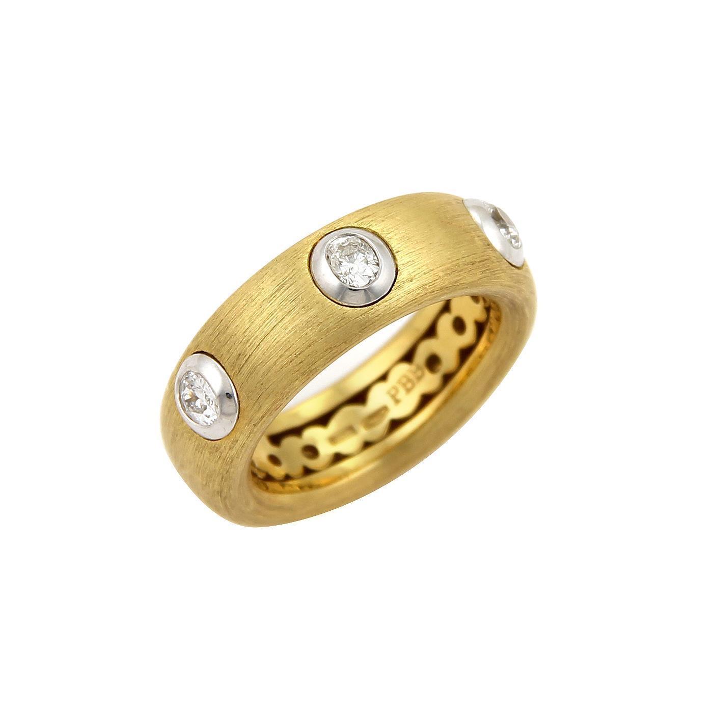 """""Pasquale Bruni 18K Yellow Gold & 0.40ct Diamond Ring Sz 7"""""" 731088"