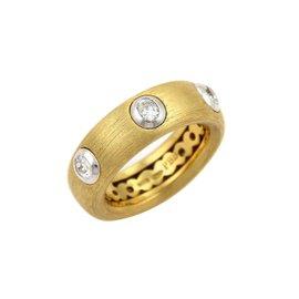 Pasquale Bruni 18K Yellow Gold & 0.40ct Diamond Ring Sz 7