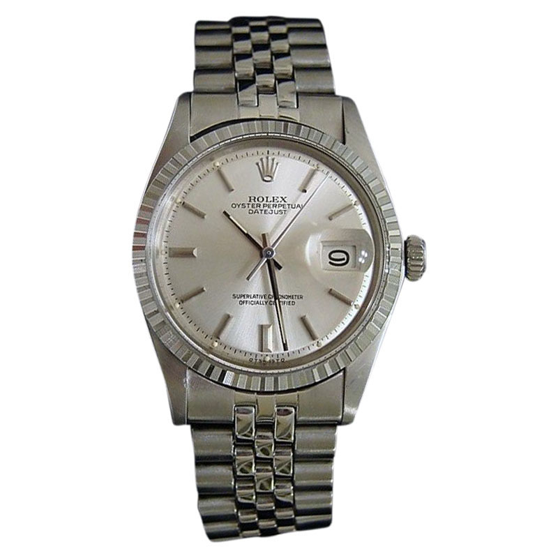 """Image of """"Rolex Datejust 1603 Stainless Steel Silver Stick Dial & Jubilee Band"""""""