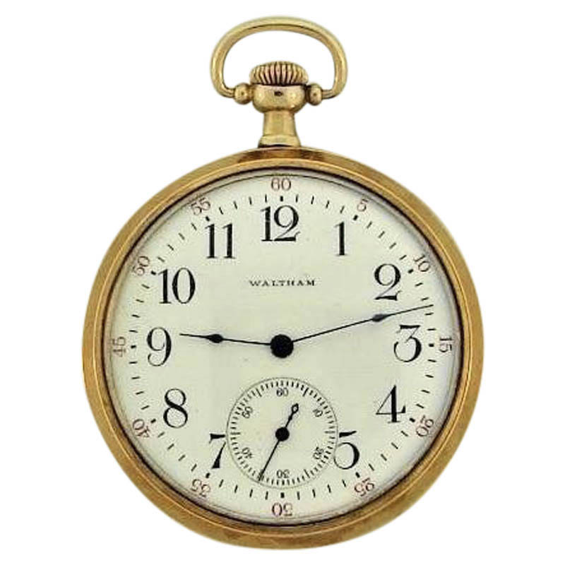 "Image of ""Waltham 14K Yellow Gold With Coin Edge Unisex Watch Circa: 1910"""