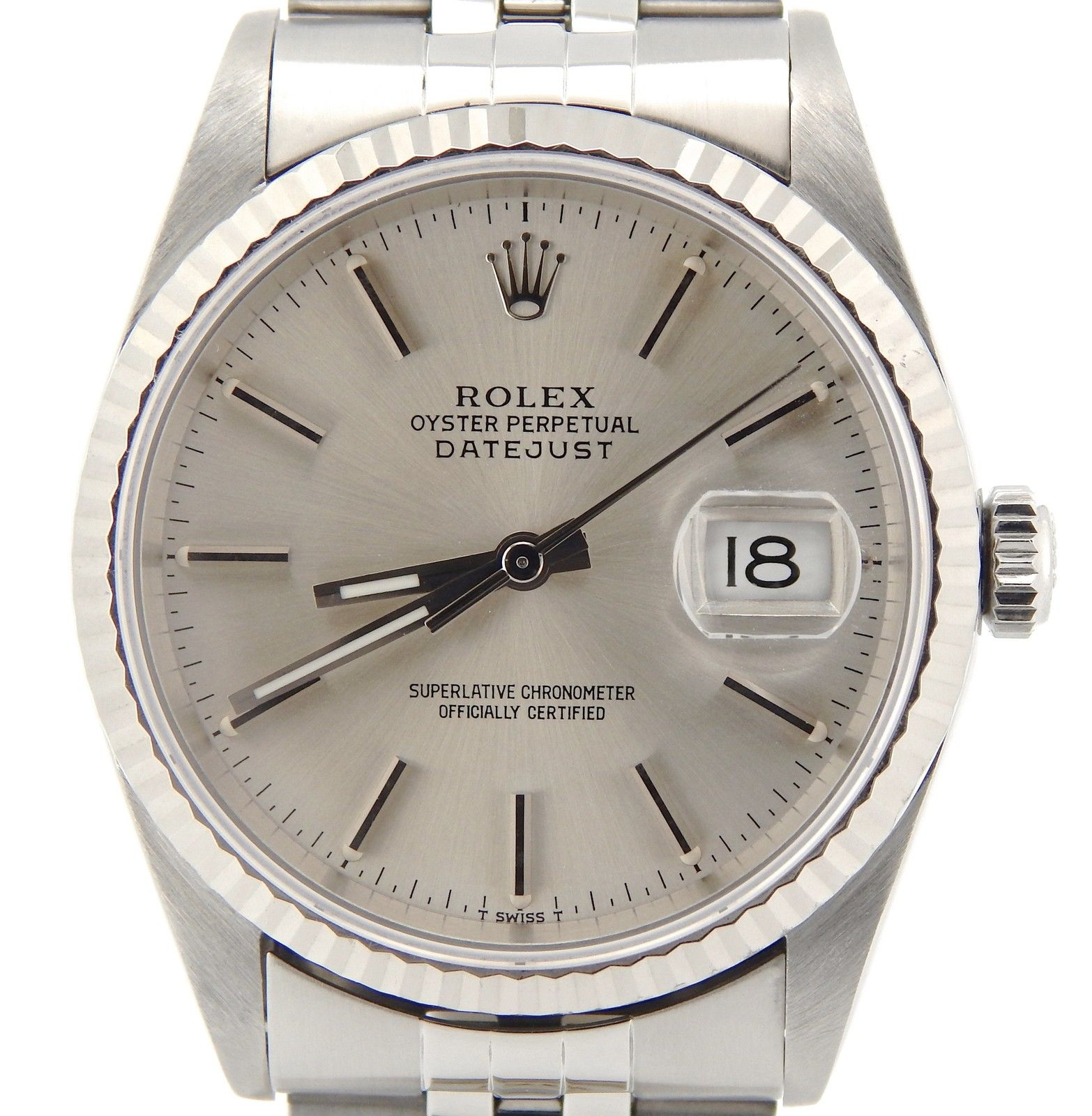 """Image of """"Rolex 16234 Stainless Steel/18K White Gold Datejust Jubilee Silver"""""""