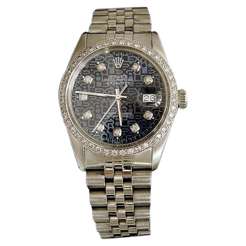 "Image of ""Rolex Stainless Steel Datejust w/Blue Anniversary Diamond Dial & 1ct"""
