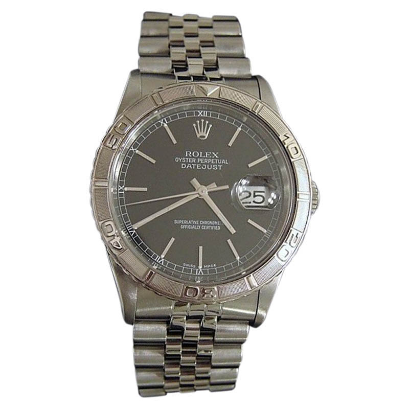"""Image of """"Rolex 16264 Stainless Steel Datejust Turn-O-Graph Thunderbird Watch"""""""