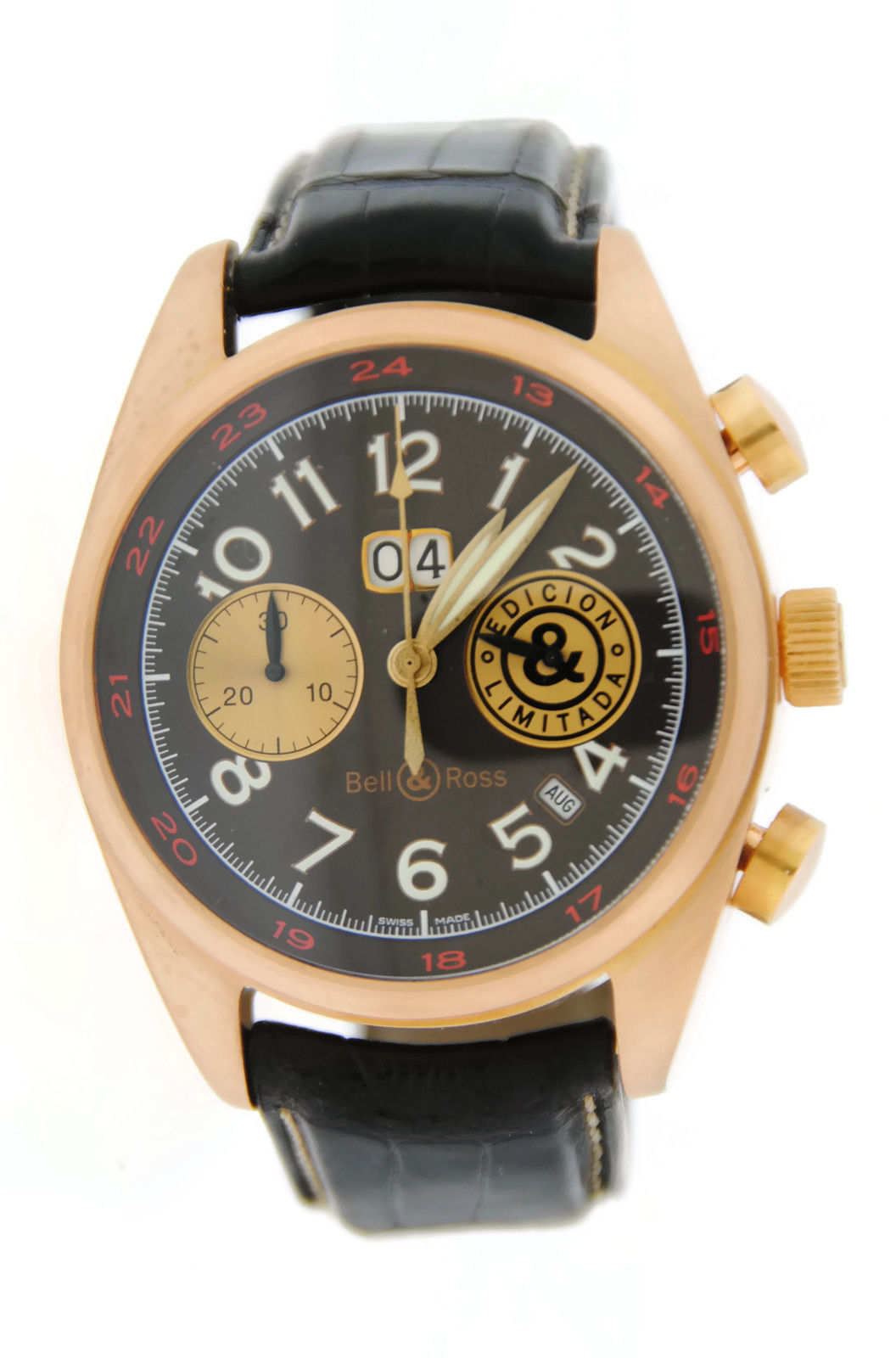 """Image of """"Bell & Ross 126Xlgd Cigar 18K Rose Gold Mens Watch"""""""