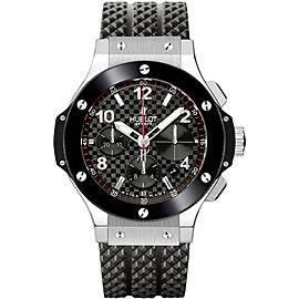 Hublot Big Bang 301.sb.131.rx Stainless Steel & Rubber Black Carbon Fiber Strap 44mm Mens Watch